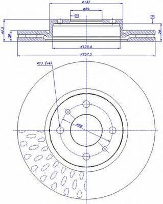 CAR 142192 Тормозной диск