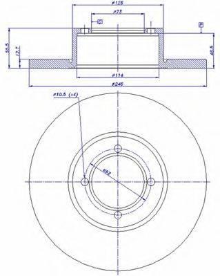 CAR 142501 Тормозной диск