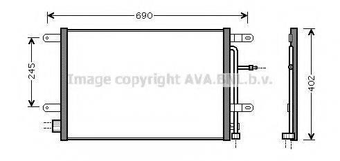 AVA QUALITY COOLING AI5238 Конденсатор, кондиционер