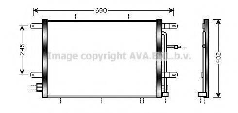 AVA QUALITY COOLING AI5239 Конденсатор, кондиционер