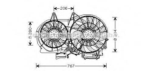 AVA QUALITY COOLING AI7506 Вентилятор, охлаждение двигателя