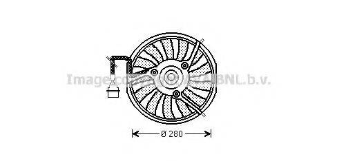 AVA QUALITY COOLING AI7511 Вентилятор, охлаждение двигателя