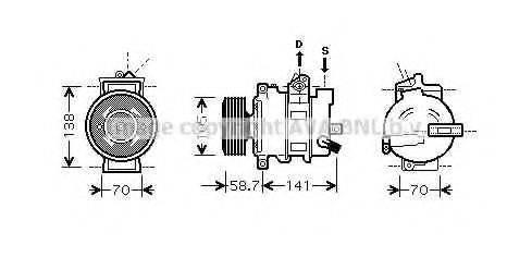 AVA QUALITY COOLING AIAK279 Компрессор, кондиционер