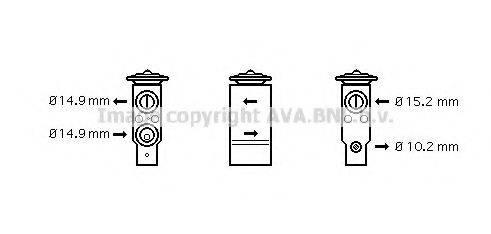 AVA QUALITY COOLING AL1094 Расширительный клапан, кондиционер