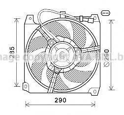 AVA QUALITY COOLING AL7023 Вентилятор, охлаждение двигателя