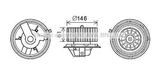 AVA QUALITY COOLING AL8140 Электродвигатель, вентиляция салона