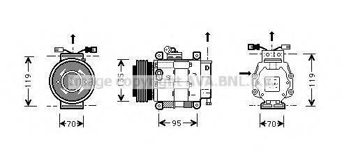 AVA QUALITY COOLING FTK062 Компрессор, кондиционер