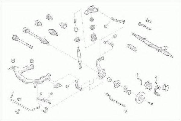 ZF PARTS AUDIA4AVFZ002 Рулевое управление; Подвеска колеса