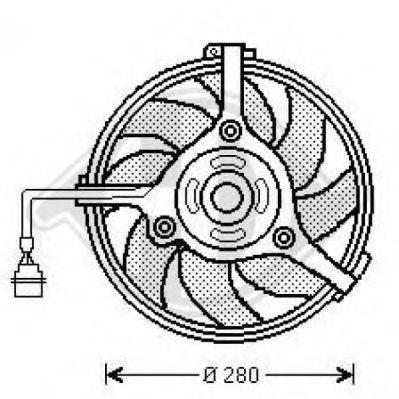 DIEDERICHS 1025001 Вентилятор, охлаждение двигателя
