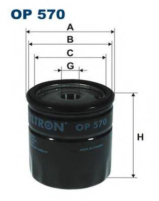FILTRON OP570 Масляный фильтр