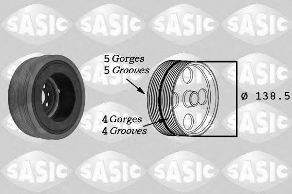 SASIC 9001804 Ременный шкив, коленчатый вал