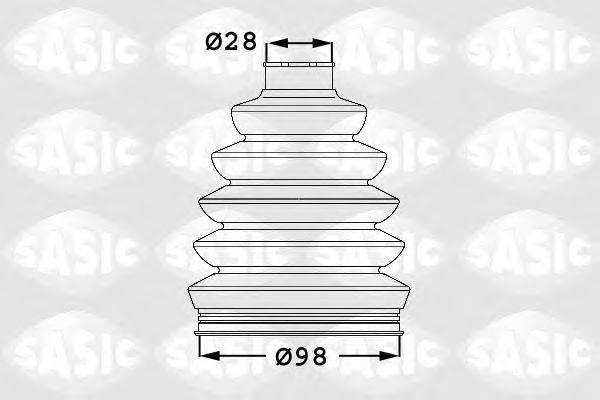 SASIC 1906028 Комплект пылника, приводной вал