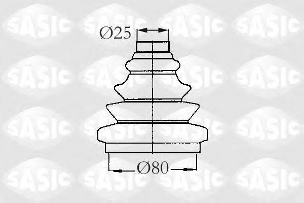 SASIC 2933013 Комплект пылника, приводной вал