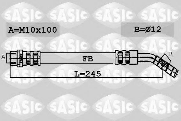 SASIC 6606062 Тормозной шланг