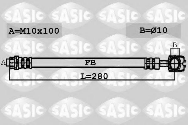 SASIC 6606079 Тормозной шланг