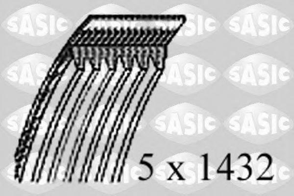 SASIC 1776049 Поликлиновой ремень