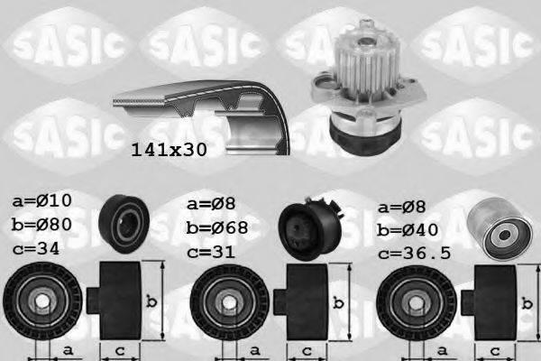 SASIC 3906028 Водяной насос + комплект зубчатого ремня