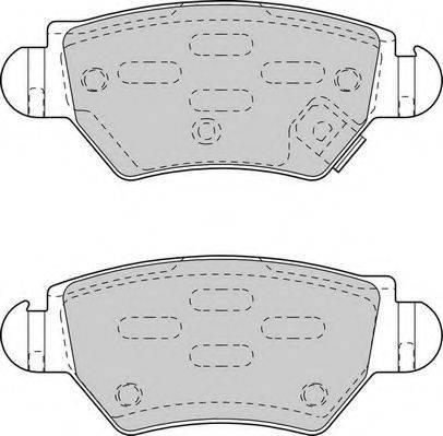 DURON DBP251294 Комплект тормозных колодок, дисковый тормоз