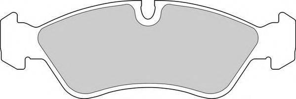 DURON DBP250584 Комплект тормозных колодок, дисковый тормоз