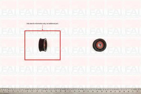FAI AUTOPARTS T1032 Паразитный / ведущий ролик, поликлиновой ремень