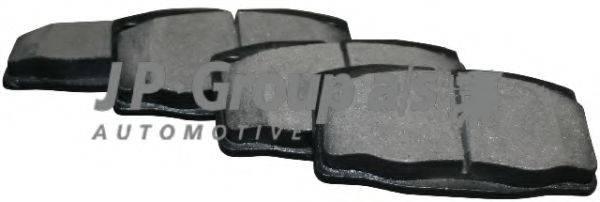 JP GROUP 1263600510 Комплект тормозных колодок, дисковый тормоз