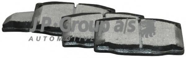 JP GROUP 1263600519 Комплект тормозных колодок, дисковый тормоз