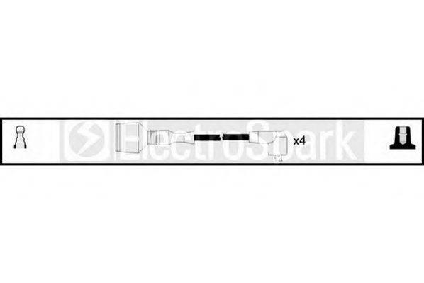 STANDARD OEK122 Комплект проводов зажигания
