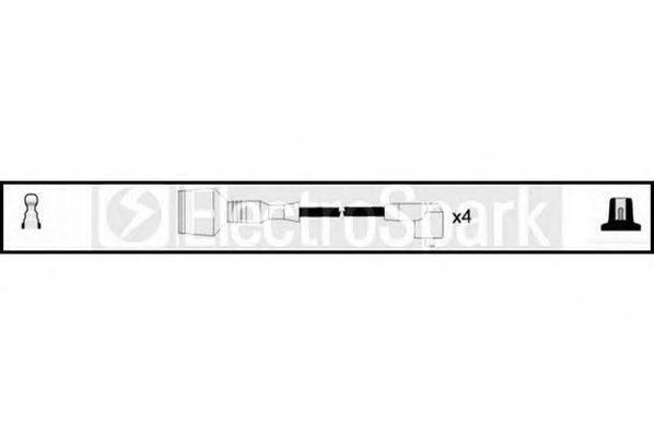 STANDARD OEK475 Комплект проводов зажигания