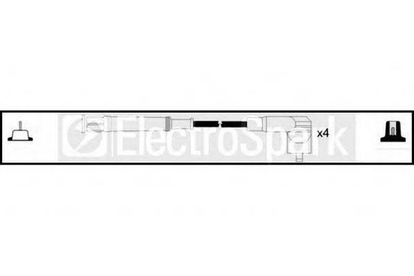 STANDARD OEK456 Комплект проводов зажигания