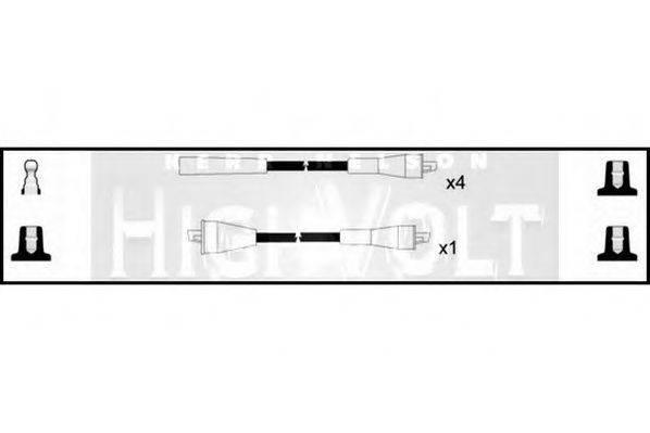 STANDARD OEF154 Комплект проводов зажигания