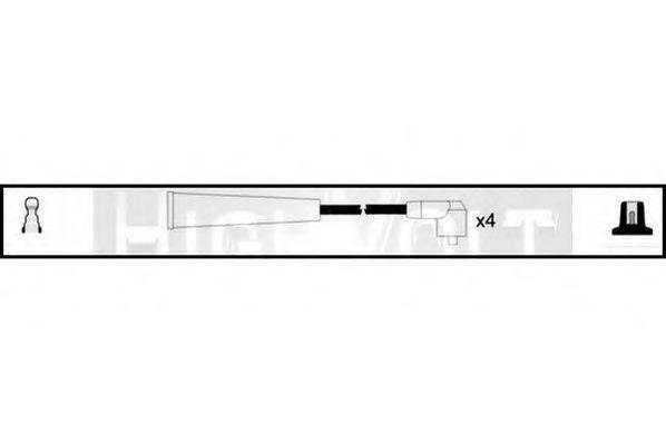 STANDARD OEF367 Комплект проводов зажигания