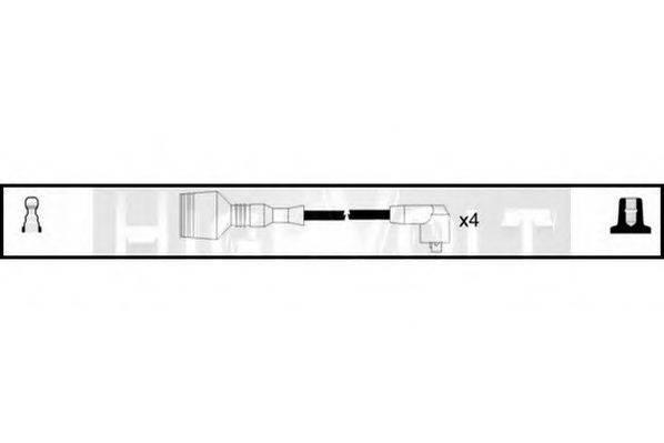 STANDARD OEF384 Комплект проводов зажигания