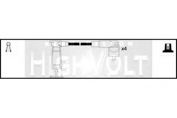 STANDARD OEF467 Комплект проводов зажигания