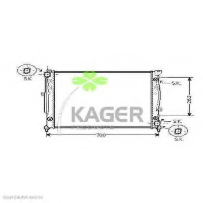 KAGER 310030 Радиатор, охлаждение двигателя