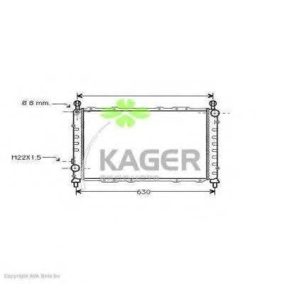 KAGER 310057 Радиатор, охлаждение двигателя