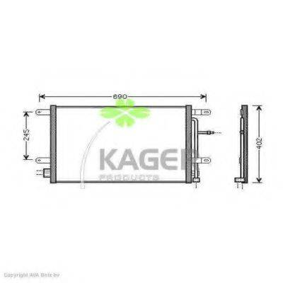 KAGER 945015 Конденсатор, кондиционер