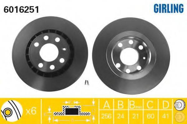 GIRLING 6016251 Тормозной диск