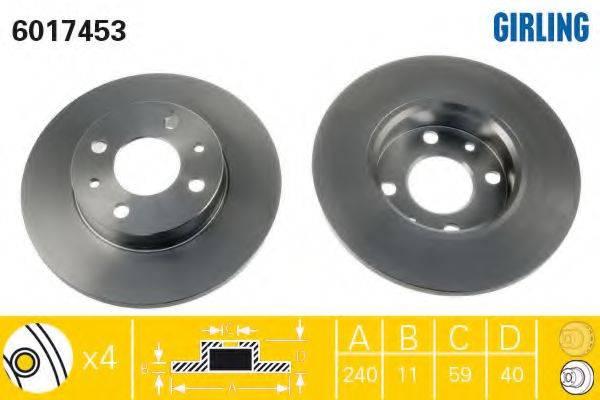 GIRLING 6017453 Тормозной диск