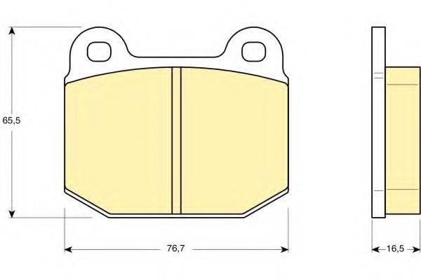 GIRLING 6106112 Комплект тормозных колодок, дисковый тормоз