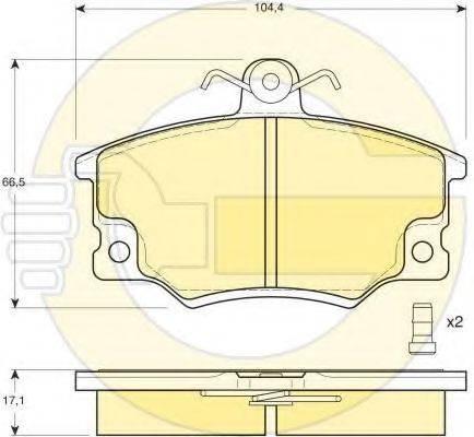 GIRLING 6410261 Комплект тормозов, дисковый тормозной механизм