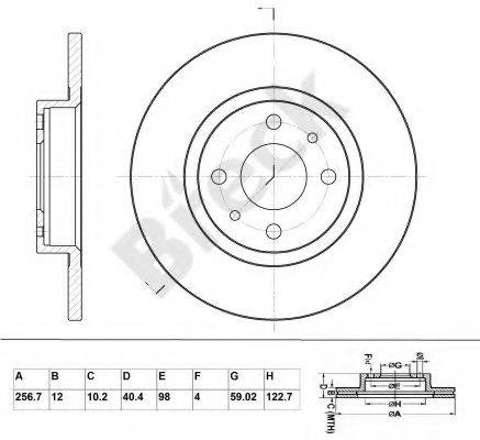 BRECK BR045SA100 Тормозной диск