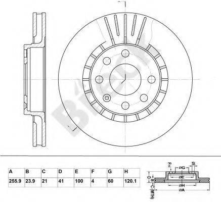 BRECK BR305VA100 Тормозной диск