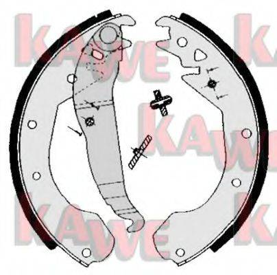 KAWE 04650 Комплект тормозных колодок