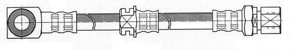 KAWE 510736 Тормозной шланг
