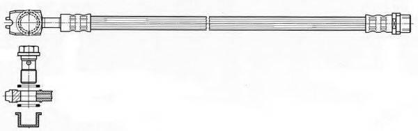 KAWE 512117 Тормозной шланг