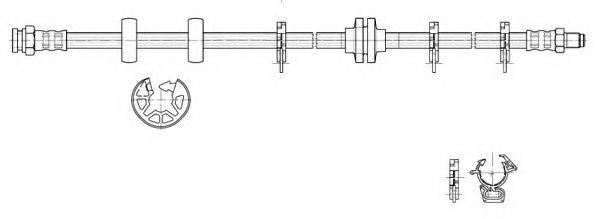 KAWE 517136 Тормозной шланг
