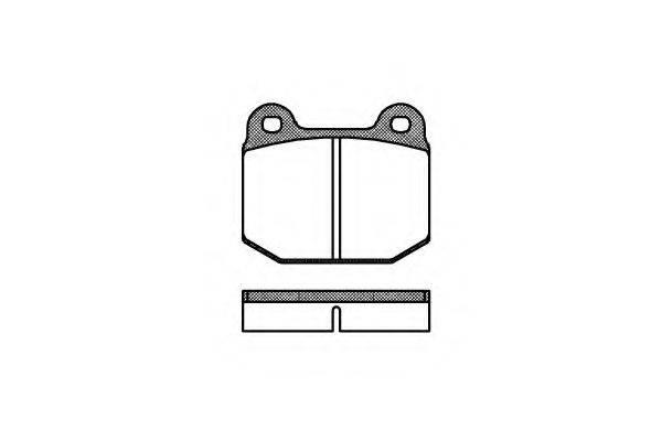 KAWE 001400 Комплект тормозных колодок, дисковый тормоз