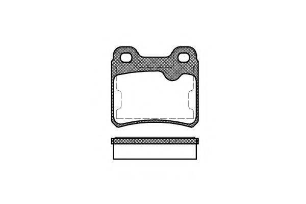 KAWE 028210 Комплект тормозных колодок, дисковый тормоз