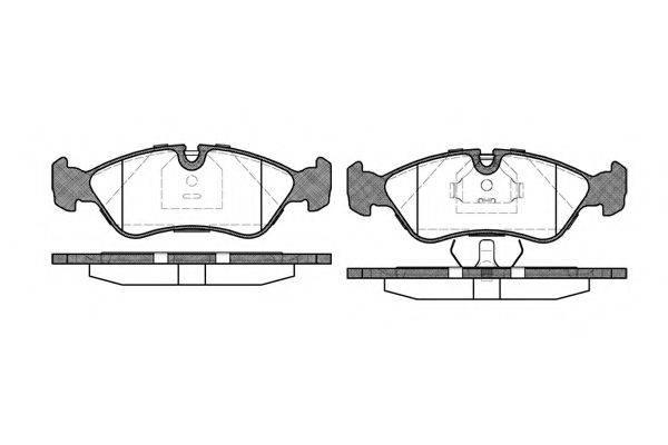 KAWE 028630 Комплект тормозных колодок, дисковый тормоз