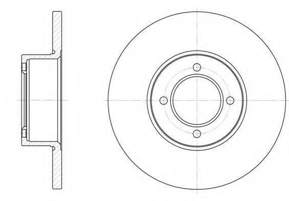 KAWE 612700 Тормозной диск